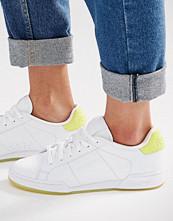 Reebok Npc Ii Trainers With Yellow Heel And Sole Detail