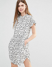 Y.a.s Summery Dress In Illustrated Floral Print