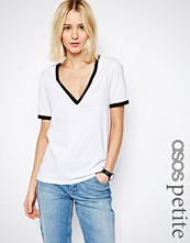 ASOS Petite V Neck T-shirt with Tipping