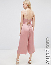ASOS Petite Satin Cami Jumpsuit with Strappy Back