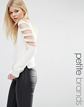 Noisy May Petite Cut Out Sleeve Jumper