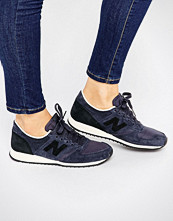 New Balance 420 Navy And Black Suede Trainers