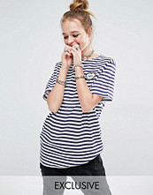 Reclaimed Vintage Stripe Breton Tee With Merci Heart Patch