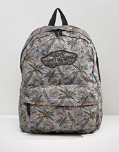 Vans Realm Backpack In Palm Print