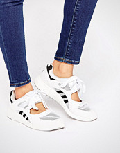Adidas Originals White Lace Up Open Trainers