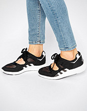 Adidas Originals Black Lace Up Open Trainers