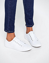 Fred Perry Kingston White Leather Trainers