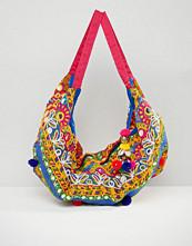 Boohoo Pom Mirror Bag