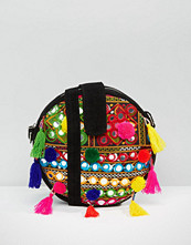 Boohoo Pom Pom Cross Body Bag