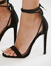 Boohoo Barely There Heeled Sandal With Straps