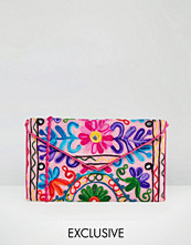 Reclaimed Vintage Pink Embroidered Cross Body Bag