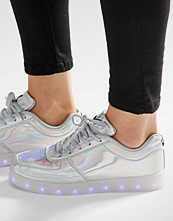 Wize & Ope Pop Silver Light Up Sole Trainers