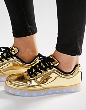 Wize & Ope Pop Gold Light Up Sole Trainers
