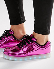 Wize & Ope Pop Pink Light Up Sole Trainers