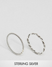 Kingsley Ryan Rope Band Ring & Twisted Rope Midi Ring Pack