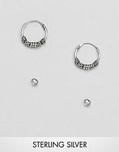 Kingsley Ryan Kinsgley Ryan Sterling Silver Bali Hoops & Stud Earrings