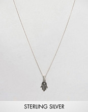 Kingsley Ryan Sterling Silver Hand Pendant Necklace