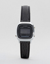 Casio Black Leather Strap Watch LA670WEL-1BEF