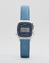 Casio Blue Leather Strap Watch LA670WEL-2A2EF