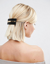 Kitsch Vegan Leather Ebony Hair Clip