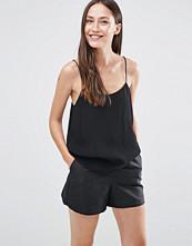Selected Boan Strap Top In Black