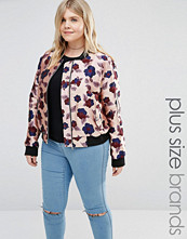 Alice & You Floral Printed Satin Bomber Jacket