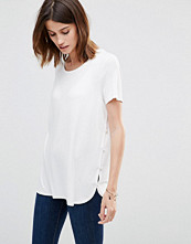 Vila Button Side T-Shirt