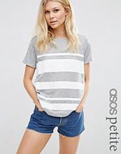 ASOS Petite T-Shirt in Block Print Stripe