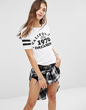 Boohoo California Dreaming Slub T-Shirt