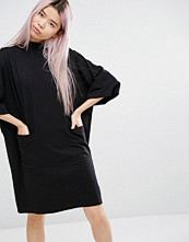 Monki EXCLUSIVE Oversized Sweat Dress With Pockets
