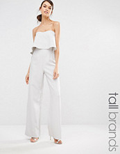 Missguided Tall Frill Wide Leg Jumpsuit