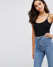 ASOS Body With Cami Straps And Scoop Back In Rib