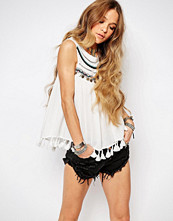 Glamorous Festival Vest Top With Coin Trim