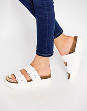 Pull&bear Flatform Double Strap Sliders