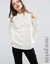 ASOS Petite Jumper in Cable Stitch with Cold Shoulder
