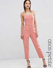 ASOS Petite Jumpsuit in Scuba with Cut Away Front