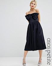 ASOS Petite Premium Jumpsuit In Bonded Satin with Bow Detail