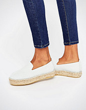 Pieces Kayla White Suede Espadrilles