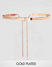 Johnny Loves Rosie Rose Gold Metal Waist Belt