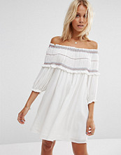 ASOS Off Shoulder Sundress with Coloured Shirring Detail