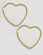Reclaimed Vintage Heart Hoop Earrings