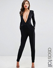 Asos Tall Jersey Jumpsuit with Extreme Plunge