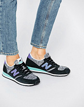 New Balance 420 Black And Purple Suede Trainers