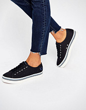 Fred Perry Phoenix Navy Canvas Flatform Plimsoll Trainers