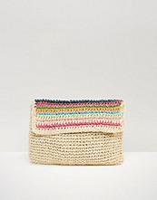South Beach Paper Straw Clutch Bag