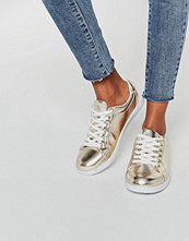 Missguided Gold Metallic Trainer