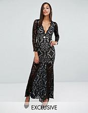 Love Triangle Fishtail Maxi Dress in Allover Lace