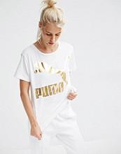 Puma Oversized T-Shirt With Gold Logo