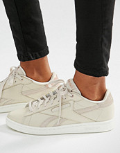 Reebok Npc Trainers In Nude With Rose Gold Trim
