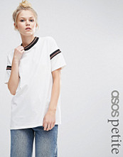 ASOS Petite T-Shirt with Sparkly Stripe Insert
